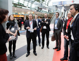 Foto: Guided Innovation Tour auf der EuroCIS 2016; copyright: Messe Düsseldorf/ctillmann