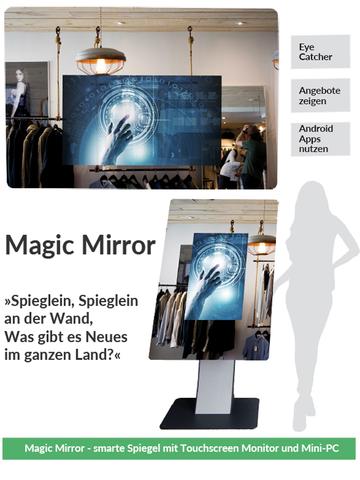 Magic Mirror Spiegel mit Touchscreen Monitor und Mini PC
