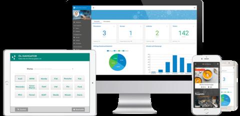 Digitaler Verkaufsberater auf verschiedenen Geräten mit iOS, Android oder im Web